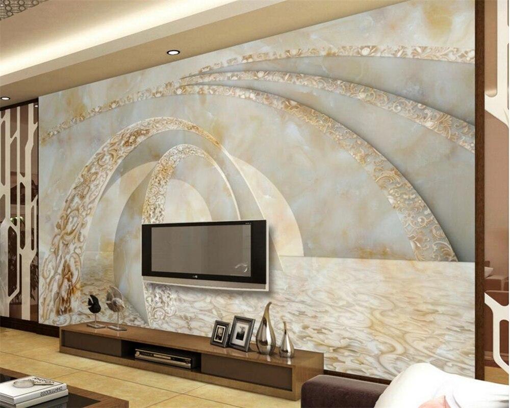 Beibehang Custom 3D Photo Wallpaper Marble 3D TV Sofa Wallpaper ...