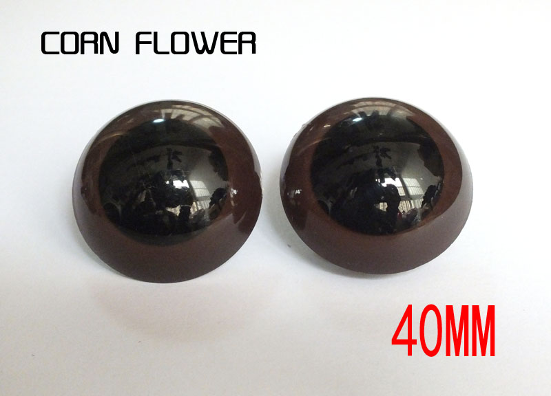 20pcs/lot 40mm Safety Eyes Brown With Locking Washers For  Teddy Bear Doll Animal Puppet Crafts