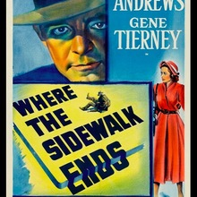 "Póster vintage retro sobre lienzo con diseño de película ""Where the Sidewalk Ends"" para decoración del hogar"