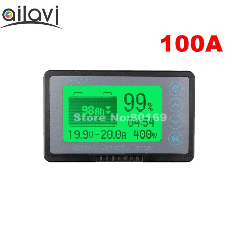 TF03K 12-72V 100A тестер емкости аккумулятора автомобиля на заказ TTL232 функция связи кулометр напряжение тока постоянного тока дисплей