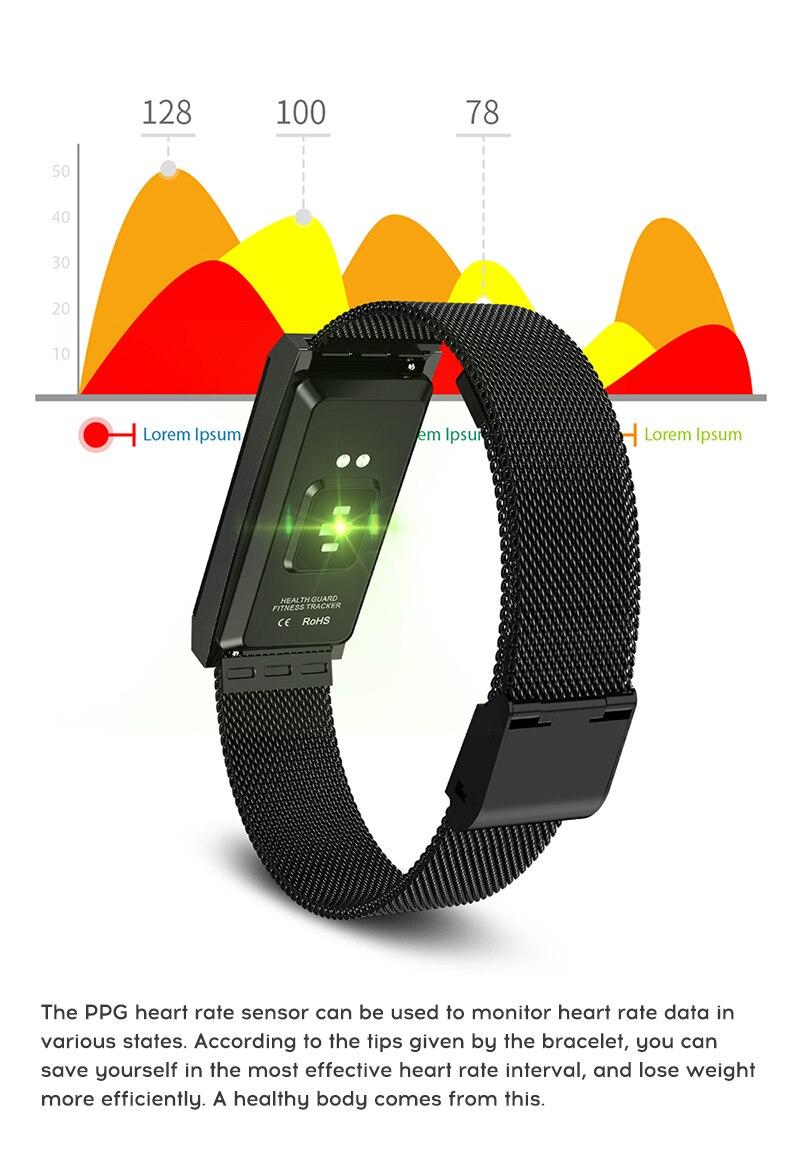 MAFAM Smart Bracelet Women Watch Waterproof Fitness Tracker Heart Rate Blood Pressure Sports Smart Band Notification Reminder (12)
