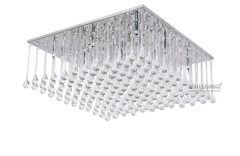 все цены на Modern LED Bulbs Crystal Chandelier Pendant Lamp RainDrop Suspension Light Lighting 110V/ 240V онлайн