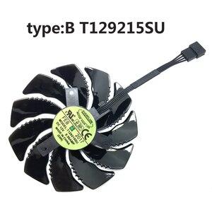 Image 2 - Ventilateur de carte graphique, refroidisseur 4 broches, 88MM T129215SU, 10 pièces/Lot, pour Gigabyte GTX 1050 1060 1070 960 RX 470 480 570 580