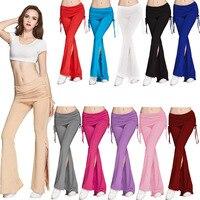 Kobiety Wielokolorowe Dorywcza Spodnie Kobiety Stretch Spodnie Szerokie Nogawki Luźne Długie Spodnie Harem Klub Taneczny Dzwon Dna Y55