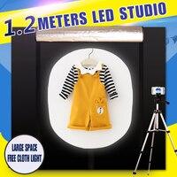 CY 120*100*120CM Portable Photography Soft box Photo Studio Lightbox Light box +dimmer switch Children's clothing shoting tent