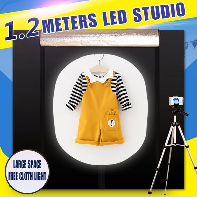 CY boîte à lumière + gradateur, boîte à photographie Portable, Soft box avec Studio de Photo, 120*100 CM