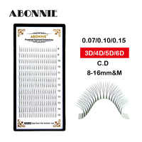 Premade Fan 0.07/0.10/0.15 Mink Eyelashes Super Soft Eyelashes Lashes Extension Eyelash Black Eyelash Extension Volume Lashes