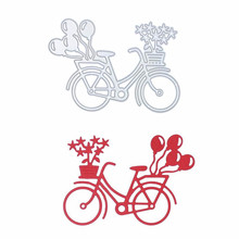 Симпатичный велосипед DIY металлические режущие штампы трафареты для Diy скрапбукинга бумаги тиснения металла режущие изделия