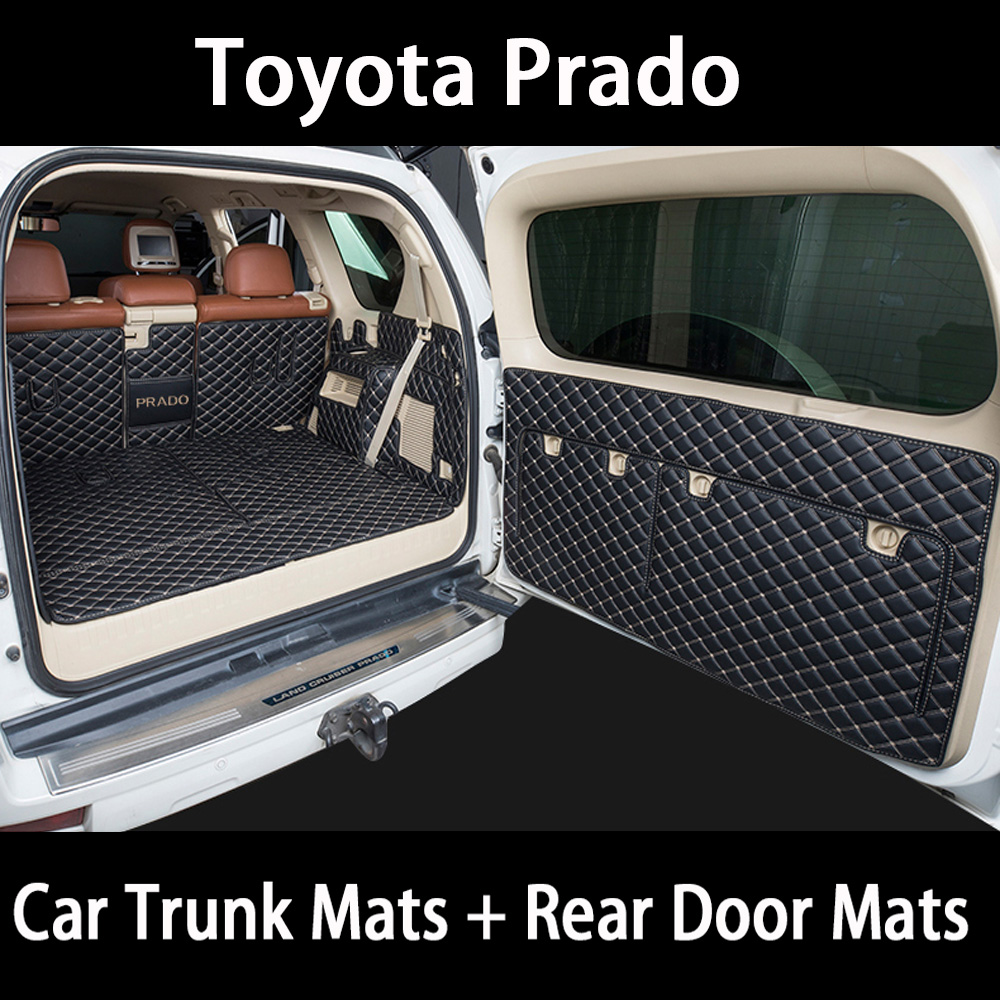 Car trunk mat for toyota Prado 150 toyota land cruiser Prado 120 accessories car cargo liner boot Mat trunk carpet liner