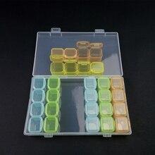 1pcs Plastic 28 SMD Parts Box IC Components Box Small Resistance Storage Box  Jewelry Beads Fishing Storage Box