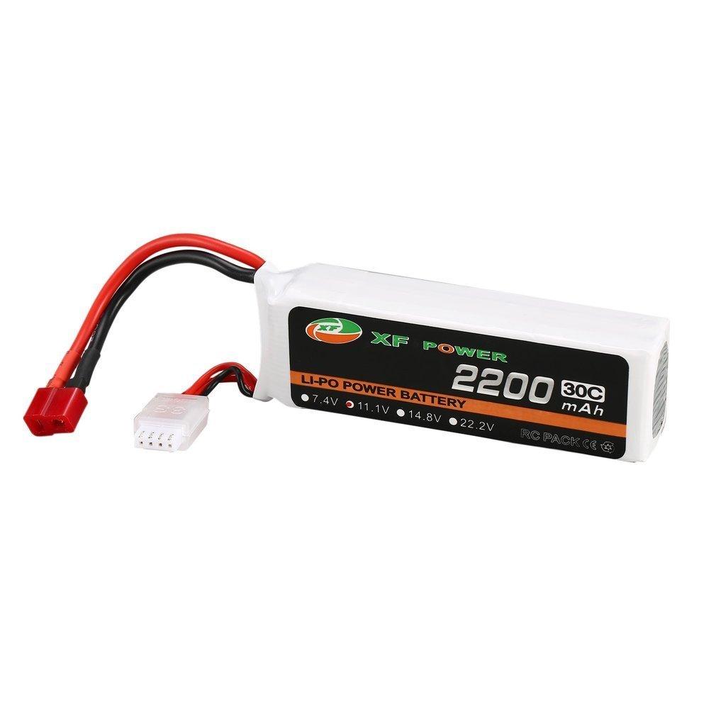 XF puissance 11.1 V 2200 mAh Batteries 30C 3 S 3S1P Lipo batterie T Plug Rechargeable pour RC FPV course Drone hélicoptère voiture bateau modèle