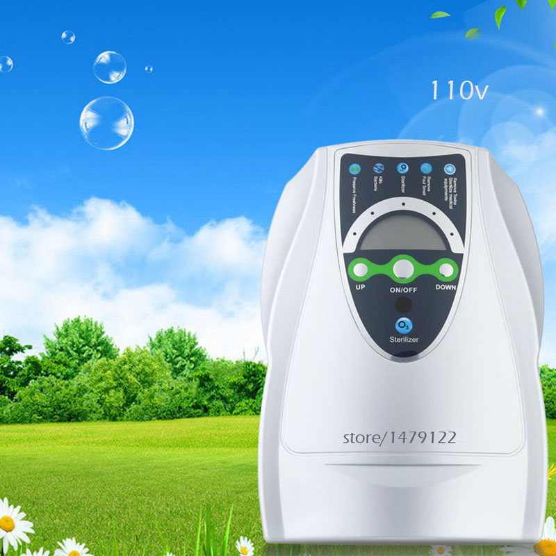 Portable Active Ozone Generator 400mg/H Sterilizer Air purifier Purification Fruit Vegetables Water Food Preparation Ozonator cold corona discharge ozonator 6000mg h for air purification