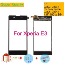 Touchscreen For Sony Xperia E3 D2202 D2203 D2206 D2243 Touch Screen Digitizer Front Glass Panel Sensor Lens DUAL D2212 NO LCD цена