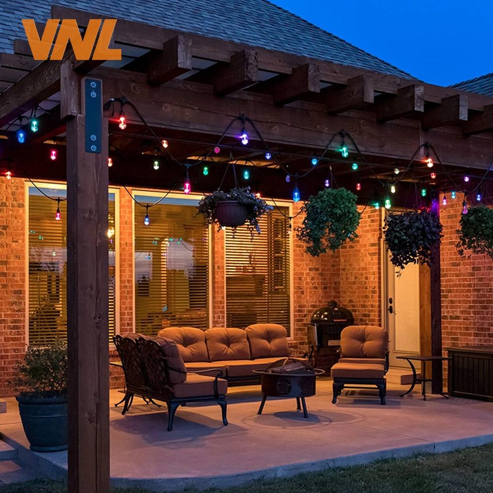 Image 5 - VNL IP65 15M Commercial LED String Lights S14 LED Multicolor Light String Waterproof For Holiday Garland Wedding Lighting-in Lighting Strings from Lights & Lighting