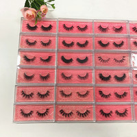 10 Pairs 3D Mink Eyelashes Full Strip Lashes Put Logo Acceptable Luxury 100% Hand Made For Make Up Tools Natural Long And Thick