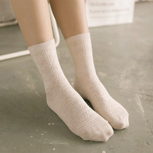 2016 New Harajuku Socks Women Dark Floral Loose Socks Piles Vintage Solid Pure 100% Cotton Socks Funny Socks High Quality