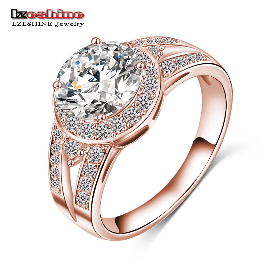 Lzeshine new design trendy 2016 gift rings rose gold Trendy womens gifts 2015