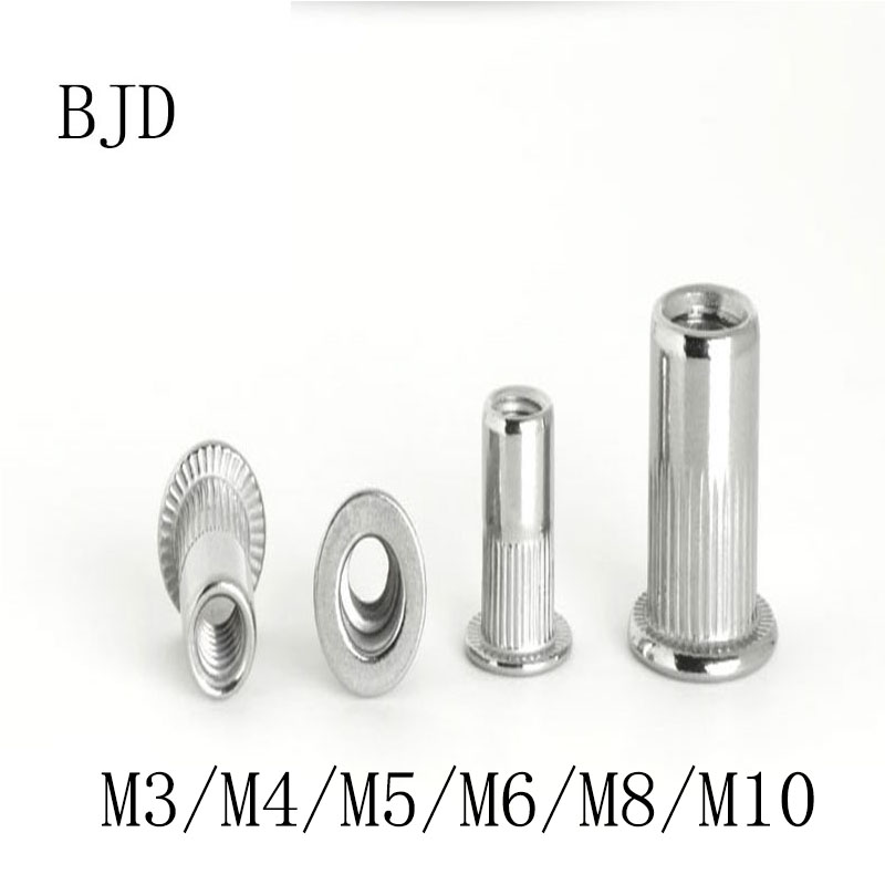 50 M6 A2 STAINLESS STEEL NUTSERTS RIVSERTS INSERTS 6mm
