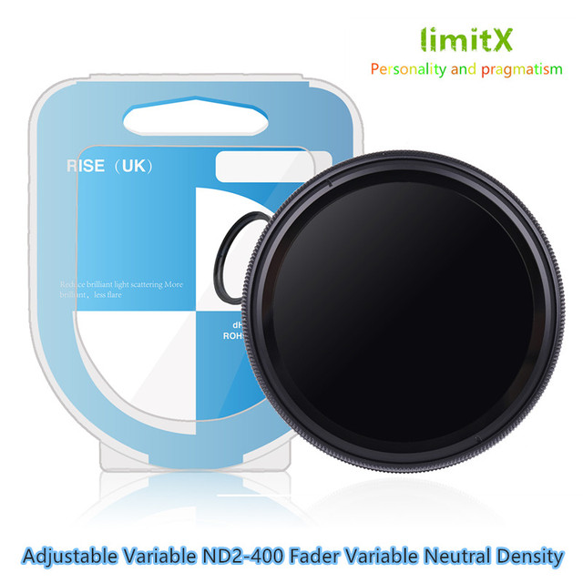 52mm ND2 400 Neutral Density Fader Variable ND filter Adjustable for Fujifilm X T100 X A20 X A5 XA20 XA5 XT100 with 15 45mm lens