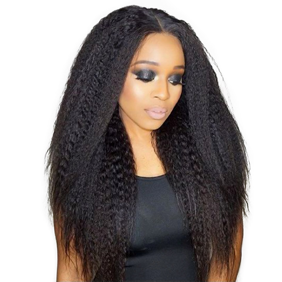 Aisi Kinky Straight Hair Indian Hair Weave Bundles Coarse Yaki 100% Human Hair Bundles Products NaturalColor Weave 1~4 Bundle ...