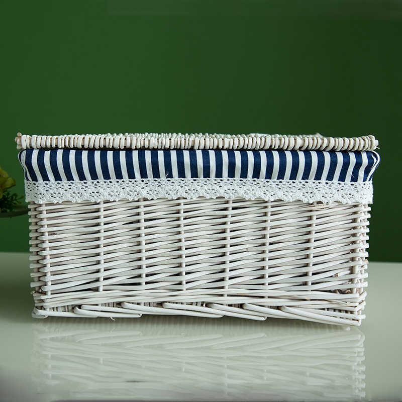 Креативный бамбуковый плетеная корзина для хранения Одежда Игрушка книга разное Коробка для хранения Плетеный материал Домашний Органайзер Размер опционально-66820