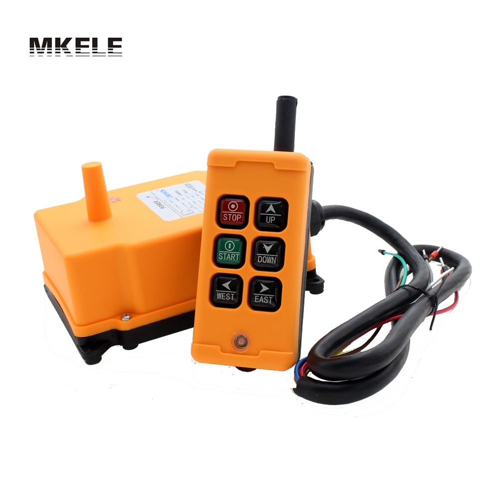 High Quality New Arrivals Crane Industrial Remote Control HS-6 Wireless Transmitter Push Button Switch China hs 10s crane industrial remote control switch hs 10s wireless transmitter switch
