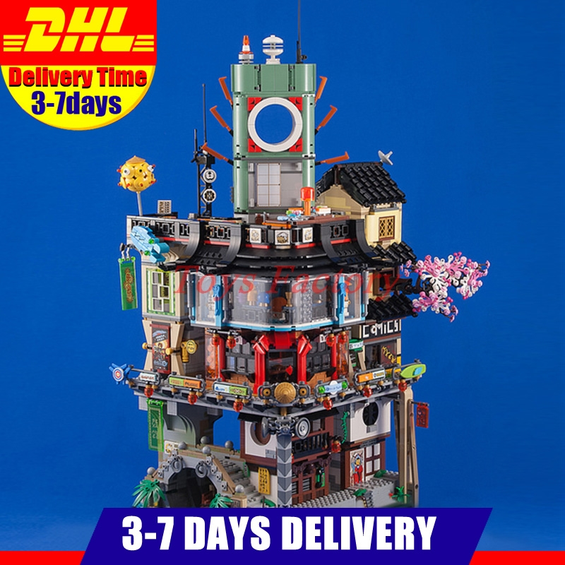 IN Stock 2018 DHL LEPIN 06066 4953 PCS City Town City Model Building Kits Set Blocks Children Toys Compatible With 70620 new lepin 16009 1151pcs queen anne s revenge pirates of the caribbean building blocks set compatible legoed with 4195 children
