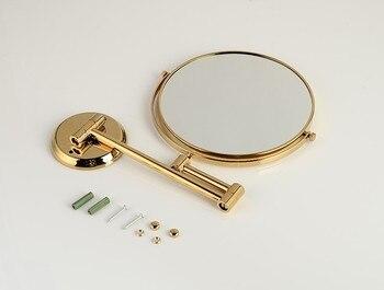 Miroir Rond Moderne | Senducs Miroir De Salle De Bain En Or Miroir De Bain En Laiton De 8 Pouces De 3x Miroir Grossissant Pour Miroirs De Salle De Bain Pliants De Mode