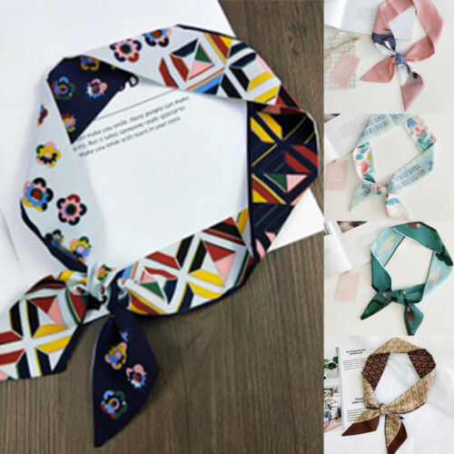 Women Fashion   Scarves   Twilly Ribbon Tied Bag Handle Decor Small   Scarf     Wraps   Lady Gift