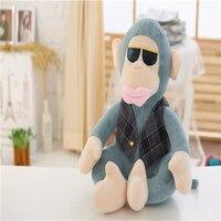 Super Cool 1Pc 40Cm 2 Styles Wearing Sunglass Big Lip Orangutan birthday gift new plush monkey cushion Kids Cute pillow toys