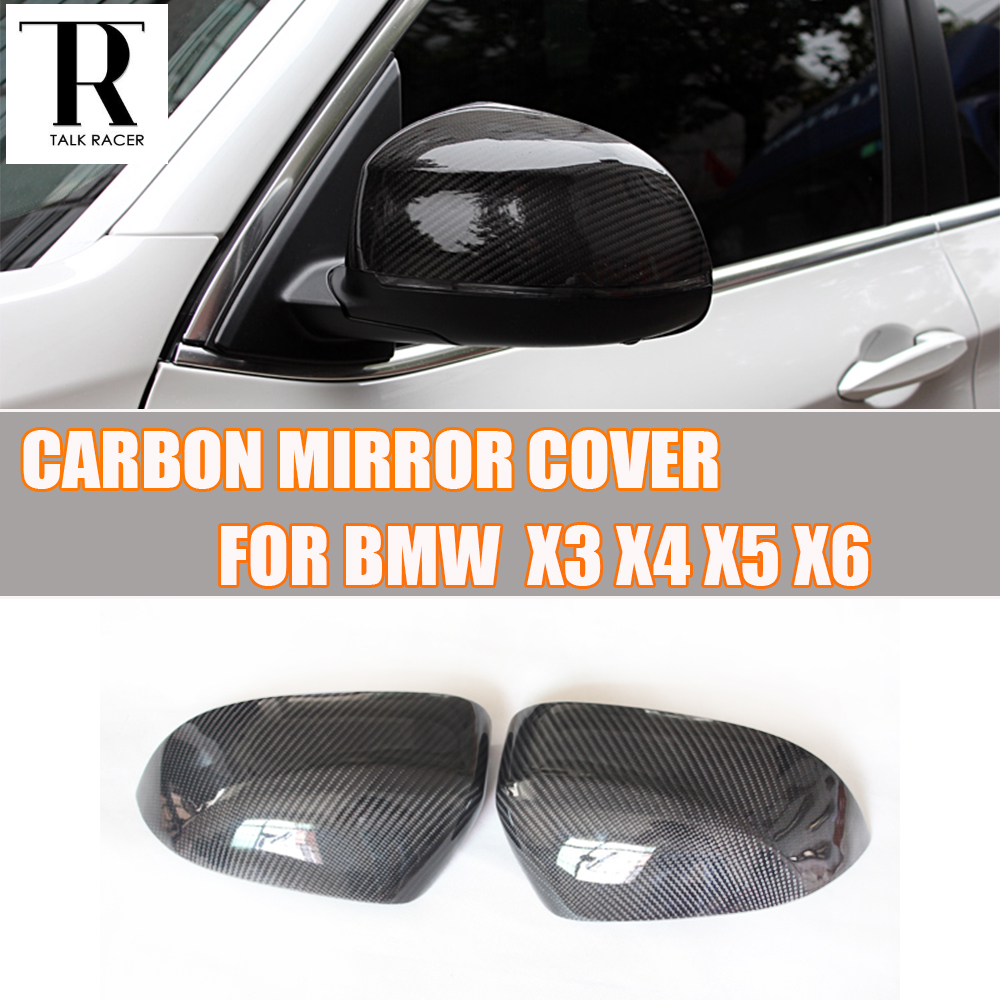 F25 F26 F15 F16 Carbon Fiber Rear View Side Mirror Cover Cap for BMW F25 X3 F26 X4 F15 X5 F16 X6 2014 2015 2016 car styling stainless steel interior trim air conditioning cd control panel decoration cover for bmw x3 f25 x4 f26 accessories