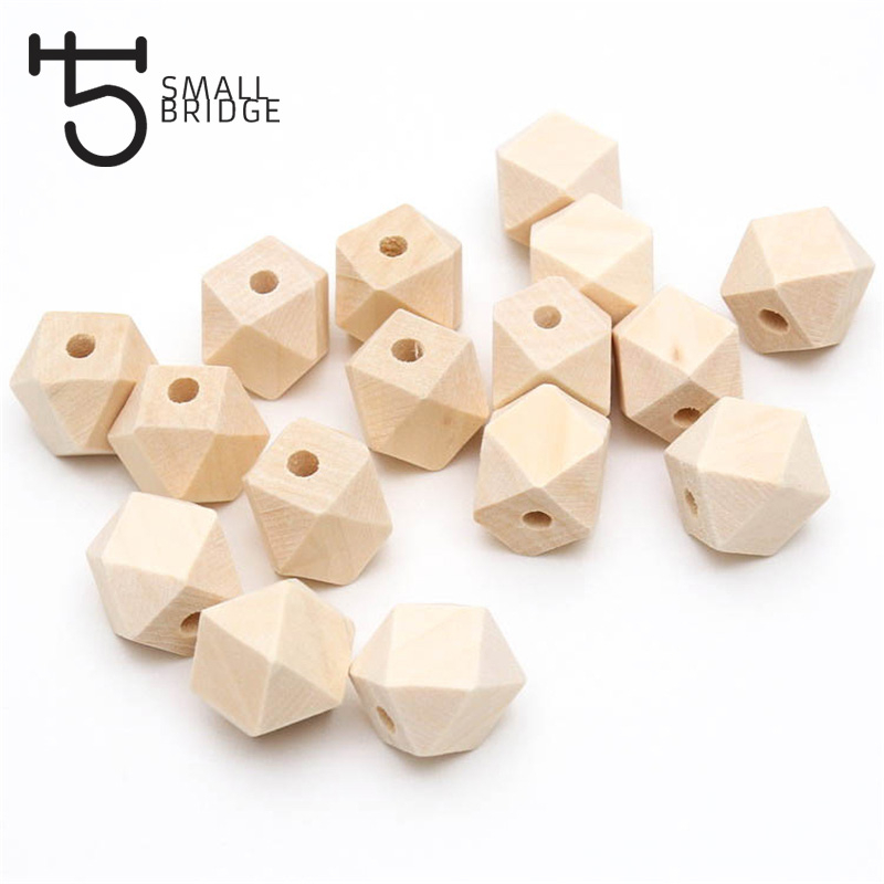 10 16 20 Mm Diy Natural Kids Geometric Wooden Beads for Jewellery Bracelet Necklace Spacer Charm Wooden Beads Wholesale W001