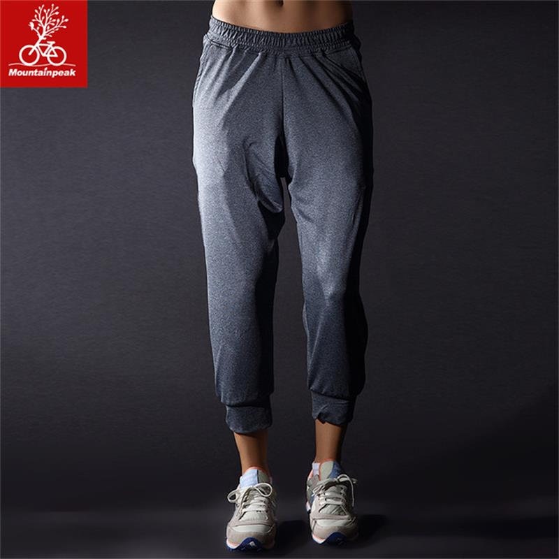 Womens Running Pants Capri Joggers Cropped Trousers Women's Grey Yoga Pants Sports Pants Breathable Tracksuit Bottoms MP008