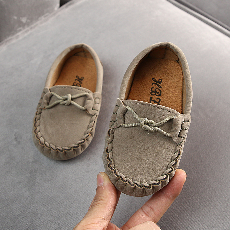 ULKNN Autumn New Children's Peas Shoes 2019 Boys Girls Casual Shoes Big Kids Tendon Bottom Baby Shoes Tide Brown Rose Blue
