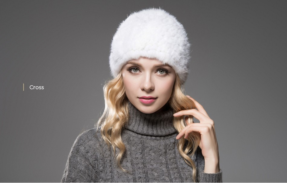 ladies fur hat winter PCM013 (9)