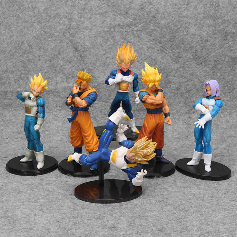 Dragonball Dragon Ball Z Son Goku gohan Vegeta trunks estatueta ROS resolução de soldados figura vol.5 PVC Figure toy modelo