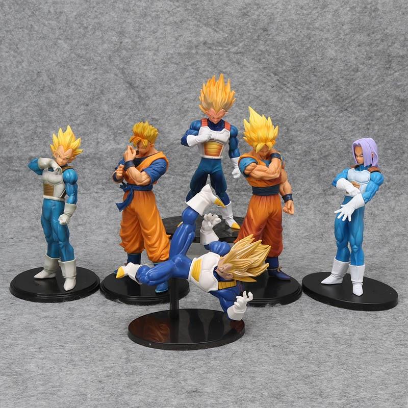 Dragonball figurine Son Goku gohan Vegeta trunks ROS Dragon Ball Z figura resolution of soldiers vol.5 PVC Figure model toy figurine