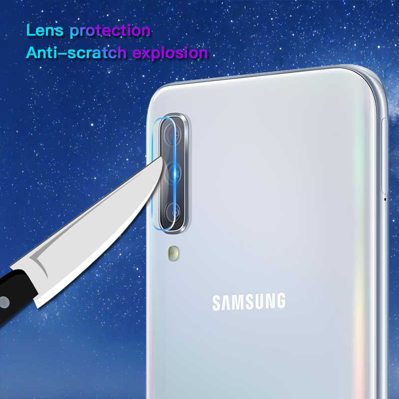 2 in 1 9D Koruyucu Cam Samsung Galaxy A50 kamera ekran koruyucusu Güvenlik Filmi Lens Temperli Cam Samsung A50 A 50