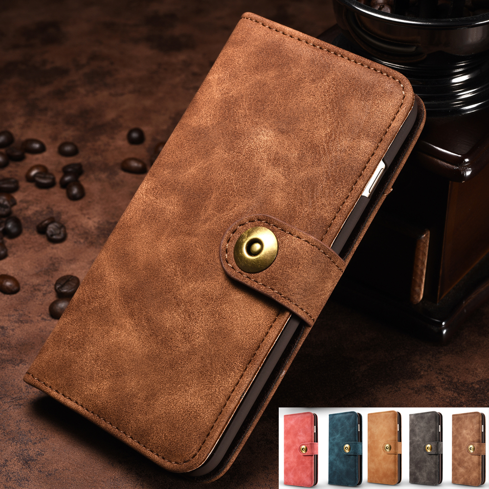 Filp Case For iPhone 7 7Plus Luxury Business Card Slot Wallet ...