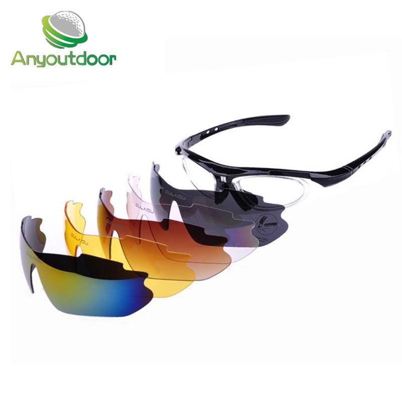 Prix pour Anyoutdoor Marque OULAIOU 0089 Équitation De Vélo De vélo lunettes UVA UVB Sport Lunettes de Soleil 5 Lentille lunettes