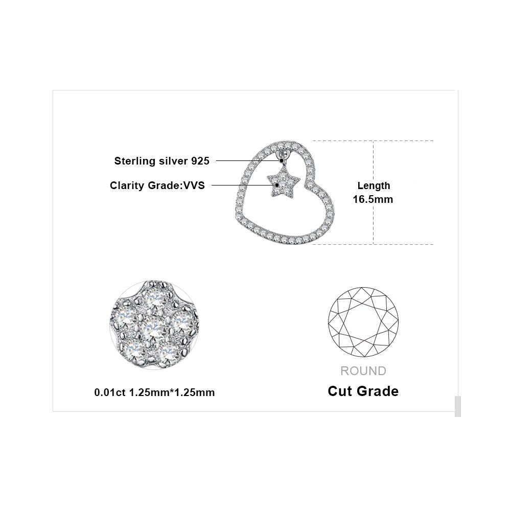 JewelryPalace Trái Tim Ngôi Sao Phổ Bộ 0.2ct Cubic Zirconia Mặt Dây Chuyền Đẹp, Mặt Dây Chuyền Nam Bạc 925 Quà Tặng Dành Cho Nữ