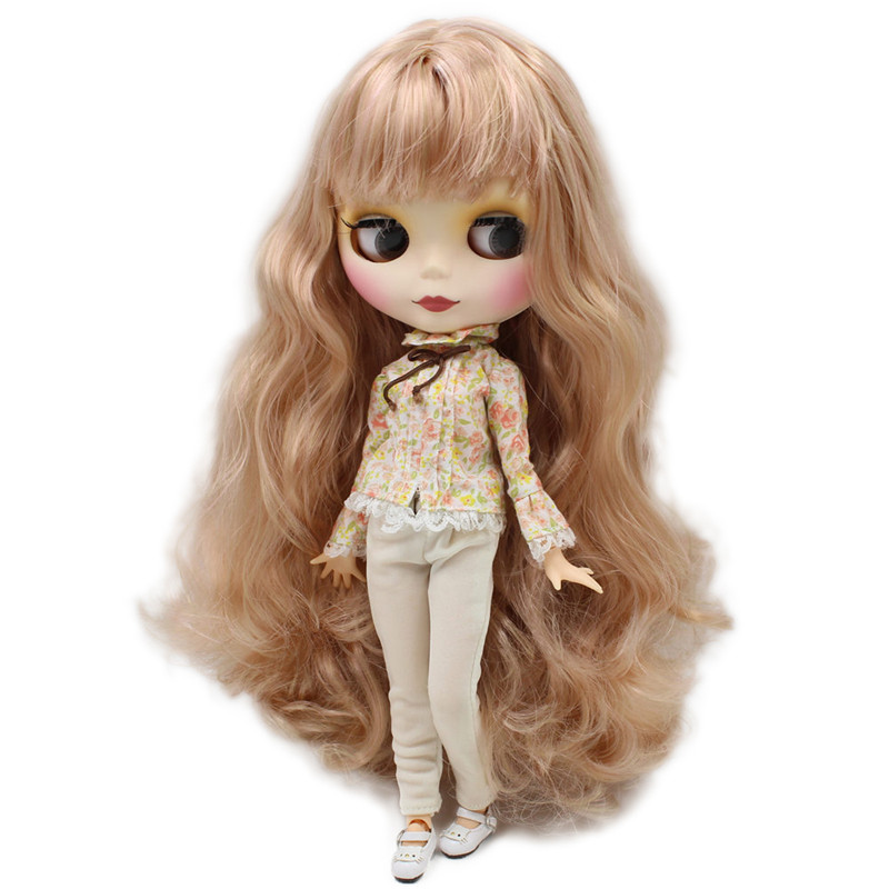 ICY Blyth Nude Doll For Series No BL3227 1010 Blonde mix pink hair with bangs Matte