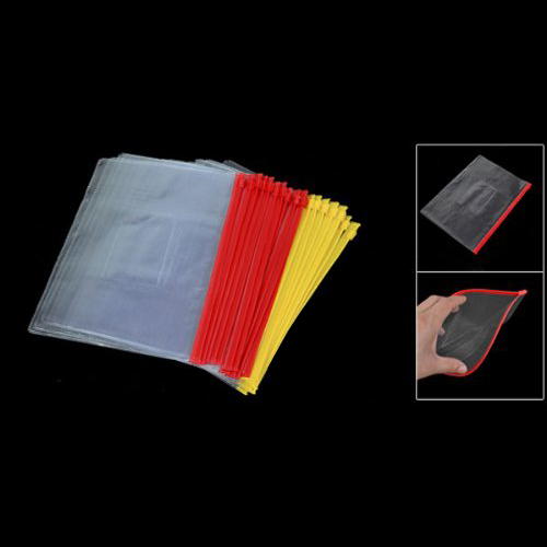 Affordable 20PCS Plastic Slider Zip Lock Bags Files Holder For A5 Paper