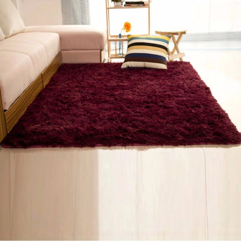 NK 60*120CM/80*120CM/120*160CM Soft Big Carpets For Bedroom Strip Bedside/Strip/non-slip Purple/Silver-gray/Pink/ Red / Blue