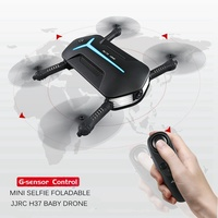 Jjrc H37 Elfie Selfie Drones With Camera G Sensor Remote Control Toys Foldable Drone Fpv Dron
