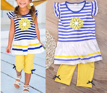 2Pcs Girls Kids Flower T-Shirt Tops Shorts Pants Outfits Summer Clothes Baby Girls Clothes Set Girls Clothing Set