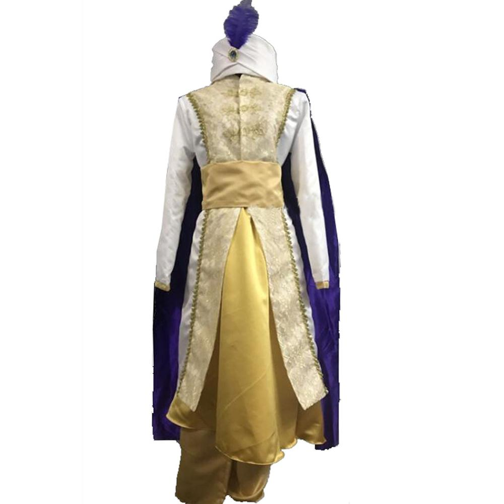 New Style Anime Aladdin Lamp Prince Cosplay Costume Adult ...