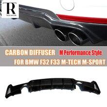 F32 F33 F36 углерода Волокно заднего бампера для губ Диффузор спойлер для BMW F32 F33 F36 420i 428i 435i 420d 428d 435d m-tech m-Sport