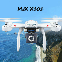 цена на In Stock!! MJX X101 Updated Version X101S Quadcopter 2.4G RC drone/drone rc helicopter 6-axis gyro can add C4018 camera(FPV)