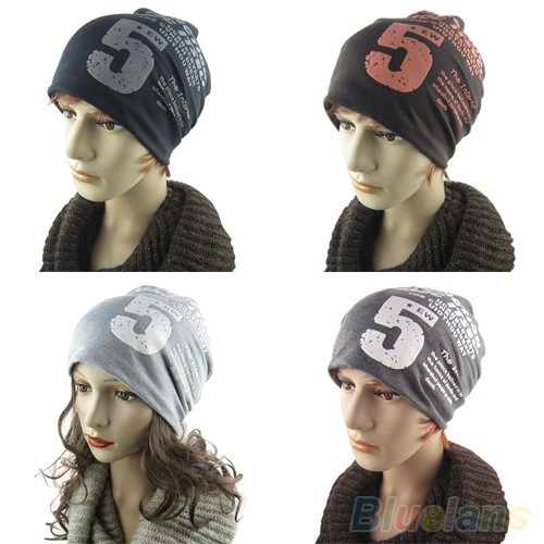Unisex Women Men Note Five Hip hop Baggy Beanie Hat Cool Dance ... 0c94c3496dac